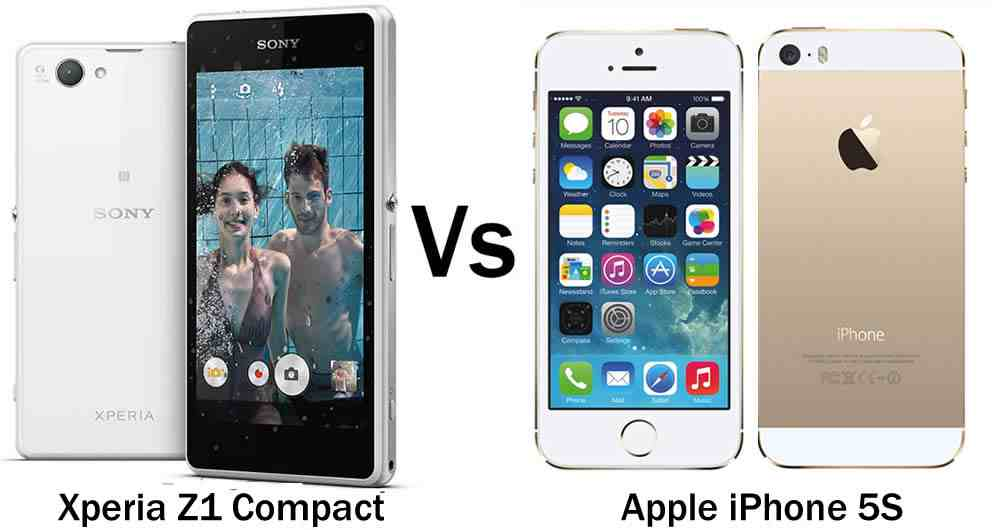iPhone 5S vs Sony Xperia Z1 Compact