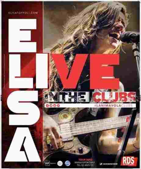 Elisa in tour con L'Anima Vola Live In The Clubs