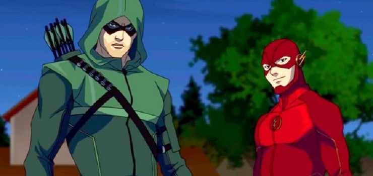 Arrow e the flash diventano cartoni animati in vixen