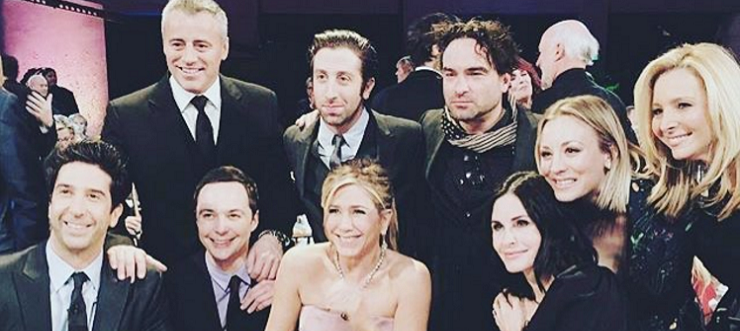 Foto reunion di Friends 2016 col cast di The Big Bang Theory