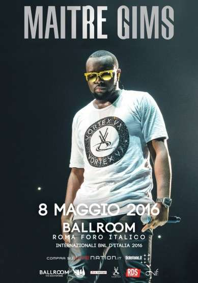 Maitre Gims in concerto a Roma