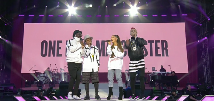 Black Eyed Peas a One Love Manchester