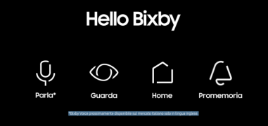 Parte il download di Bixby Voice su Samsung Galaxy S8 in Italia, il punto attuale