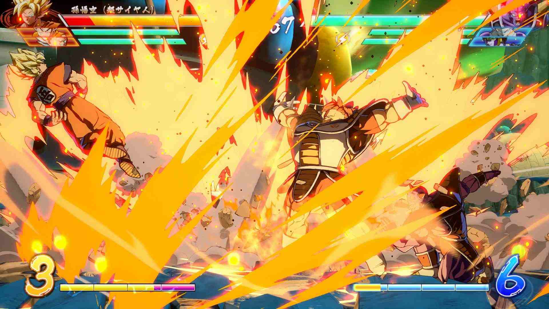 Dragon Ball FighterZ: nuove immagini di Ginew e Nappa