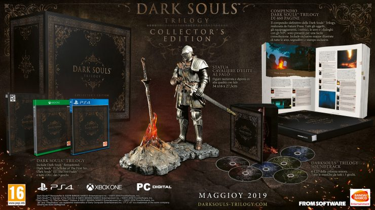 La preziosa Collector Edition di Dark Souls Trilogy