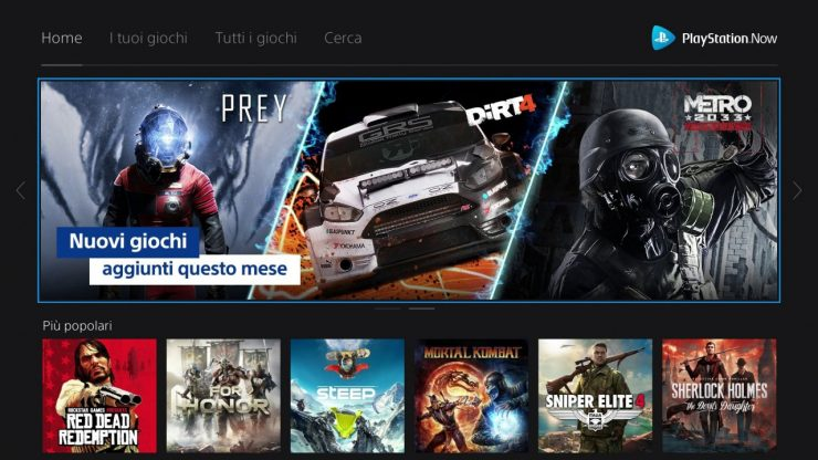 giochi gratis con PlayStation Now