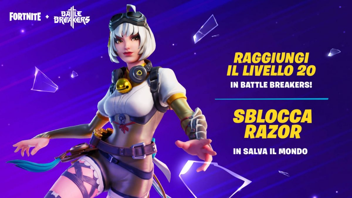 Razor di Battle Breakers in Fortnite