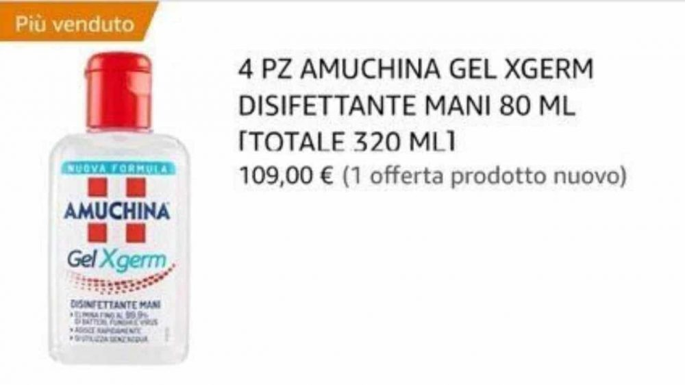 Caso Amuchina gel mani su Amazon a più di 100 euro: bloccati ...