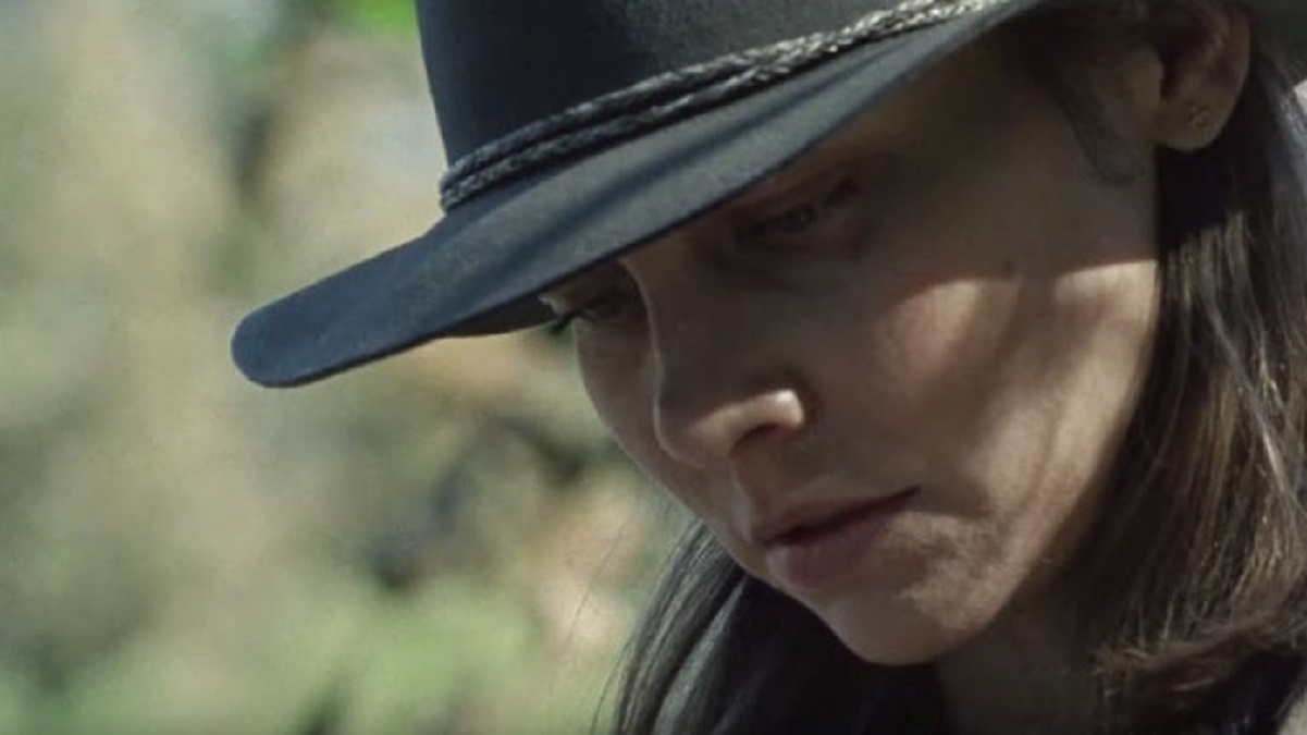 Lauren Cohan in The Walking Dead 10×16 insieme al misterioso